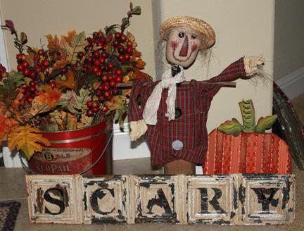 Halloween decor scarecrow-w