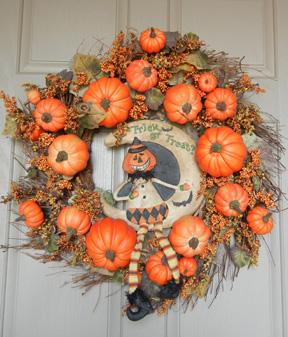 Halloween decor wreath-w